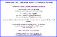 Customerfocuscalculator